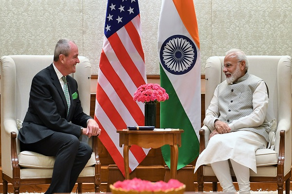 New Jersey Governor on India Visit, Meets PM Modi