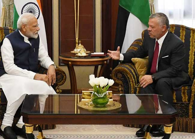 PM Modi and King of Jordan meeting in Riyadh