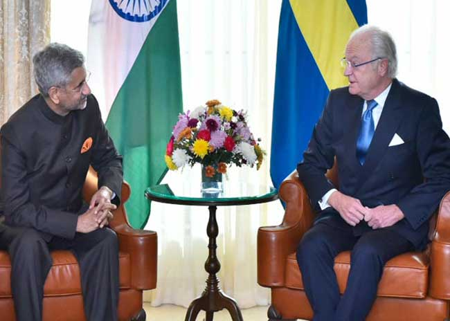 External Affairs Minister calls on King Carl XVI Gustaf