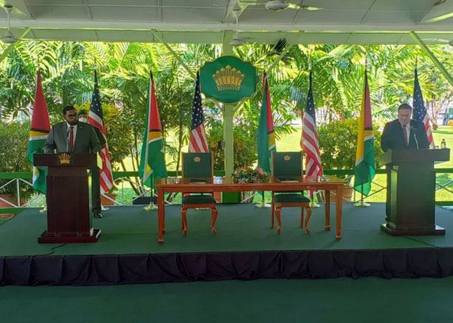 $US5M to help Venezuelans in Guyana, announced Michael Pompeo, US Secretary of State