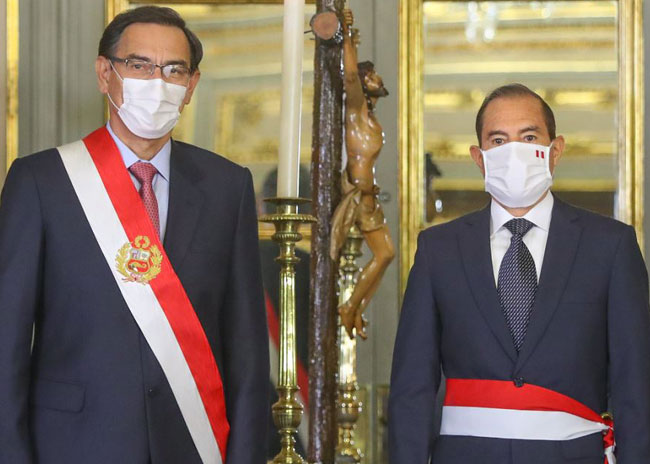 Walter Martos sworn in as new Prime Minister of Peru
